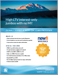 Denali Jumbo & Non-QM Loan Flyer