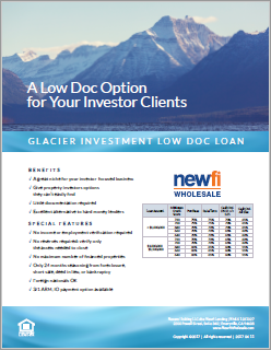 Low Doc Investment Loan Flyer
