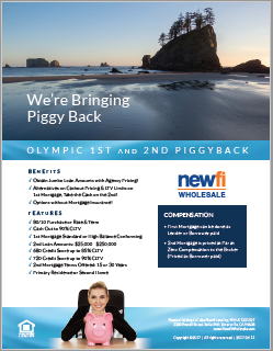 Olympic Piggyback Combination Loan Flyer