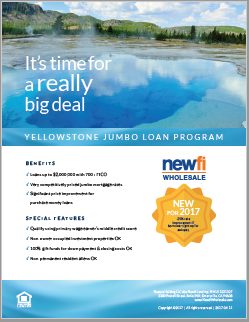 Wholesale Jumbo Loan Program Flyer