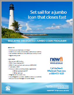 Biscayne Delegated Jumbo Loan Flyer