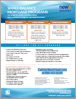 Small-Balance Commercial Real Estate Loan Programs